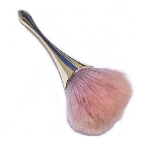 Imagem 1 de 1 de Pincel Para Maquiagem Blush Corretivo Pó Dourado Com Rosa