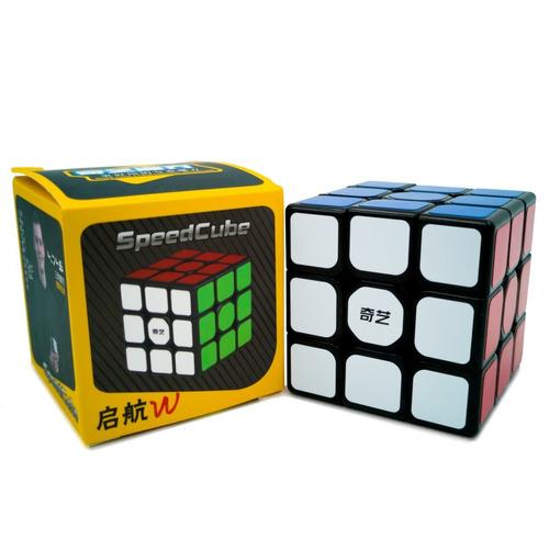 Imagen 1 de 4 de Cubo Rubik Qiyi Sail W Speed Fondo Negro 3x3 Original
