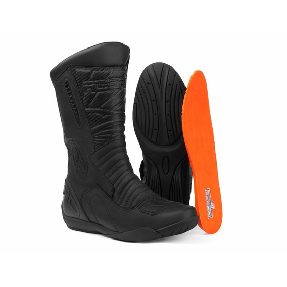 Bota Coturno Motociclista Speed Carbon Couro Animal