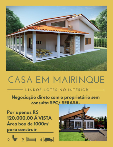 Imagem 1 de 14 de Vende-se Essa Casa Em Mairinque Por 120 Mil.