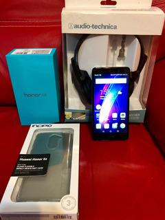 Huawei Honor 6x, Y Audífonos Audio-technica.