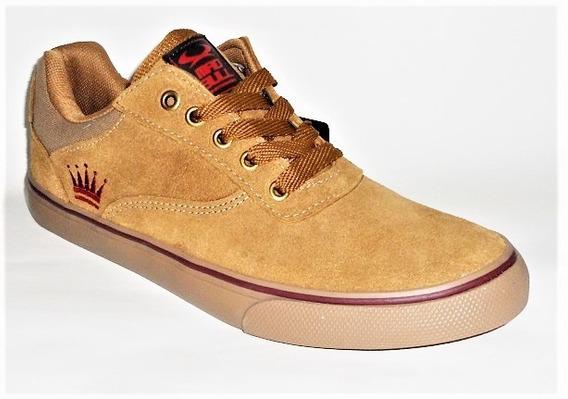 Tenis Mad Bull Mb-995 Caramelo/vinho Skate Shoes