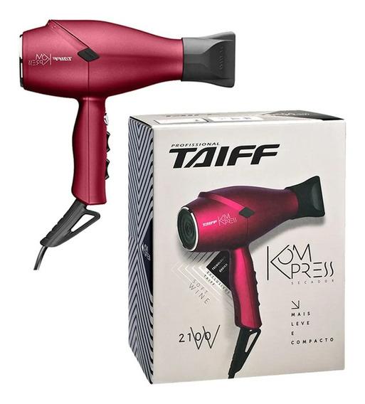 Secador De Cabelo Taiff Kompress Soft Wine 2100w 220v