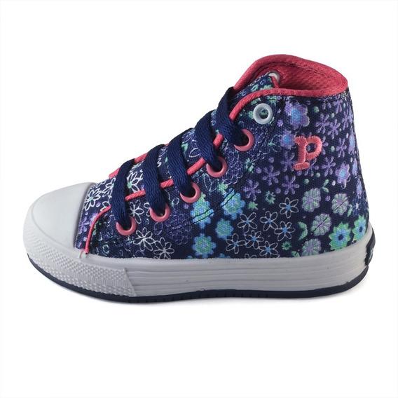 Bota Flores Azul-fucsia Pampero Infantil