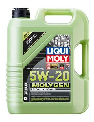 Aceite De Motor Liqui Moly 5 Litros 5w20 Sintetico Molygen