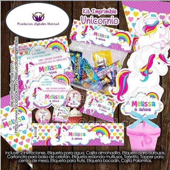 Kits Imrpimible Unicornio Rouse Pdl 2x1