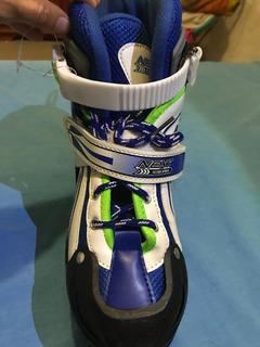 Patines Next Action Sports Color Azul Con Blanco