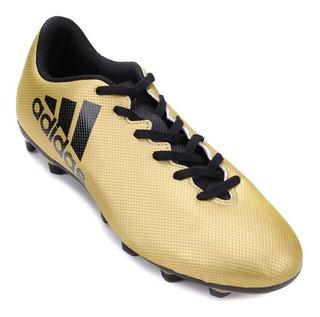 Chuteira Campo adidas X 17.4 Fxg Masculina - Dourado