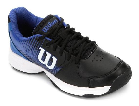 Tenis Wilson Ace Plus All Court Masculino Azul E Preto