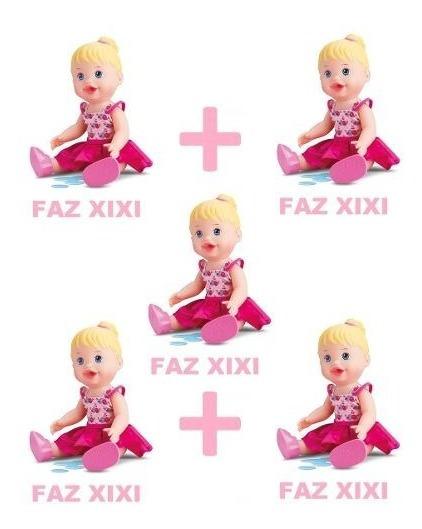 Kit 5 Bonecas Little Alive Baby Faz Xixi Divertoys Atacado