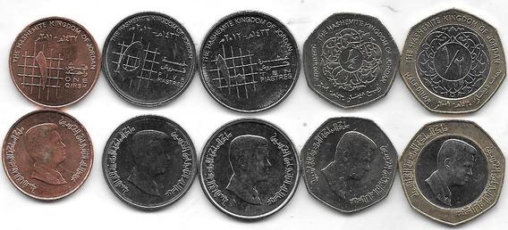 5 Monedas Jordania Año 2009/12 Sin Circular