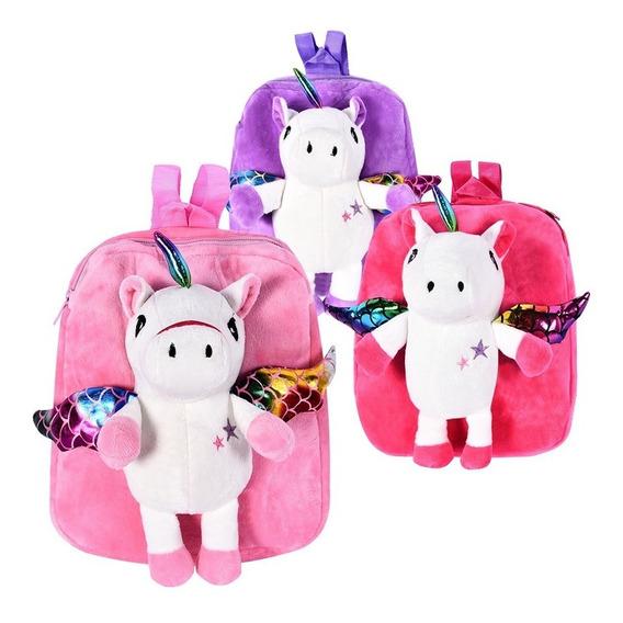 Mochila Trendy Peluche Jardin Infantil Unicornio Niñas 8547