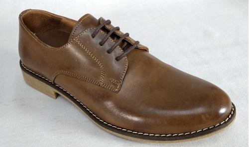 Zapato De Vestir Cnv Art 1901 100% Cuero Negro Habano