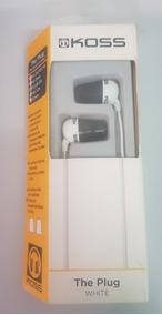 Koss The Plug Branco Fone De Ouvido Original