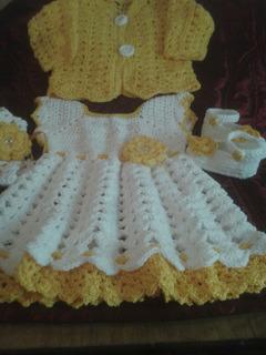 Vestidos De Invierno Para Bebes A Crochet En Mercado Libre