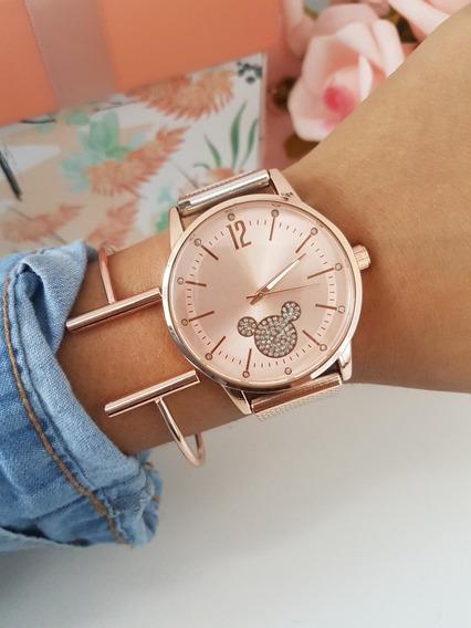 Relógio Mickey Feminino Dourado