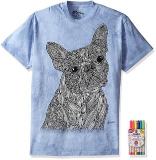 El Montaña Colorwear Pug Perro Adulto Camiseta El Libro De