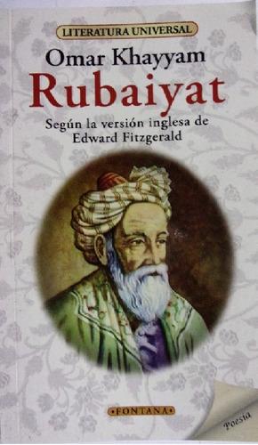 Imagen 1 de 2 de Libro.  Rubaiyat. Omar Khayyam. Clasicos Fontana.
