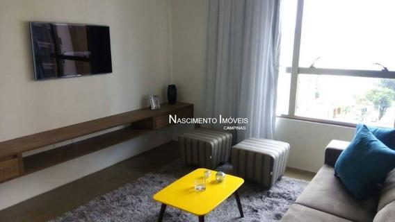 Apartamento (porteira Fechada) Com 1 Dormitórios À Venda, 70 M² Por R$ 690.000 - Cambuí - Campinas/sp - Ap0570