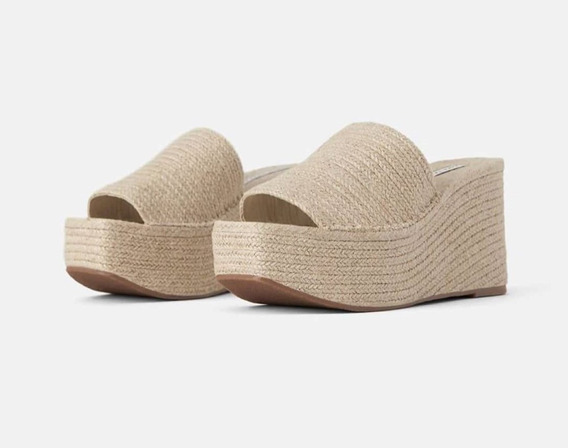 Sandalias Zara De Yute Con Plataforma Talle: 36 .-