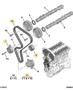 Kit Correa Distribucion Peugeot Motor 1.6 16v Cod 1643637980