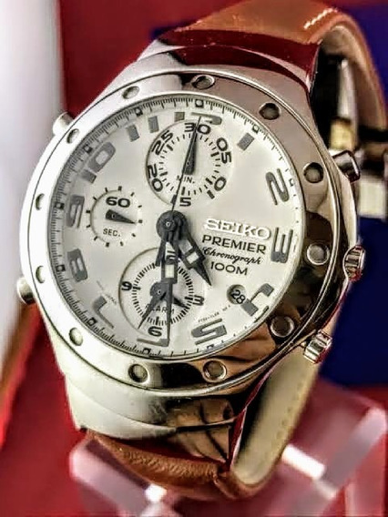 Seiko Cronograph Premier 100m Alarme 7t32 7h80 ( 1990 )