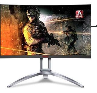 Aoc Agon Ag273qcx 27 Monitor De Juego Curvo 2k Qhd Freesync