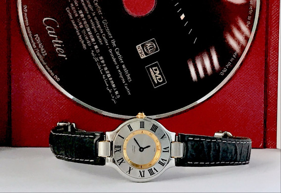 Cartier Must 21 , Aco Ouro , Pulseira Couro , Promocao !