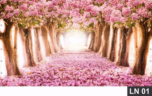 Imagem 1 de 6 de Painel De Festa Cerejeira Japonesa Aniversário 3,00x2,50m