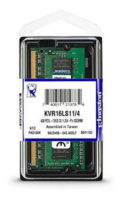 Memória Kingston Notebook 4gb Ddr3l 1600 1.35v Low Voltage