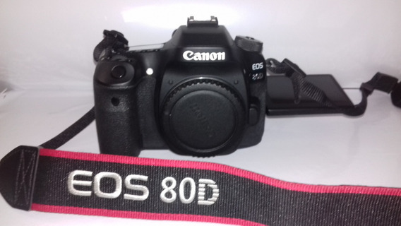 Canon Eos 80d Dslr - Corpo + Sd Scan Disk 64g C/10 45mbs