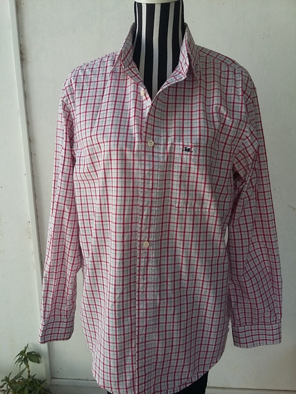 Camisa De Hombre A Cuadros, Marca: Legacy, T: 3, Impecable!!