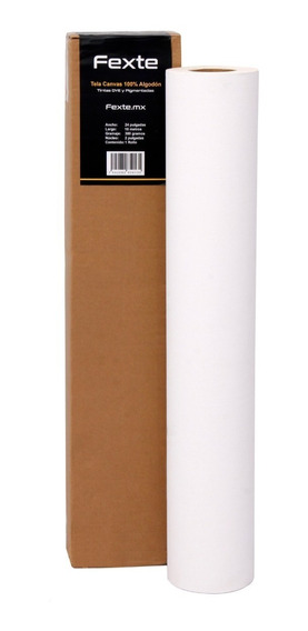 Tela Canvas 100% Algodón Impresión Rollo 24 Pulg X 18 Mtrs
