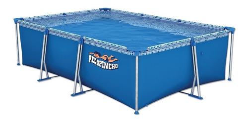 Pileta estructural rectangular Pelopincho 1055 con capacidad de 4500 litros de 3m de largo x 2m de ancho  azul