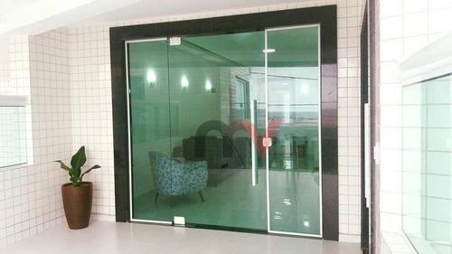 Apartamento À Venda, 72 M² Por R$ 295.000,00 - Vila Guilhermina - Praia Grande/sp - Ap0428