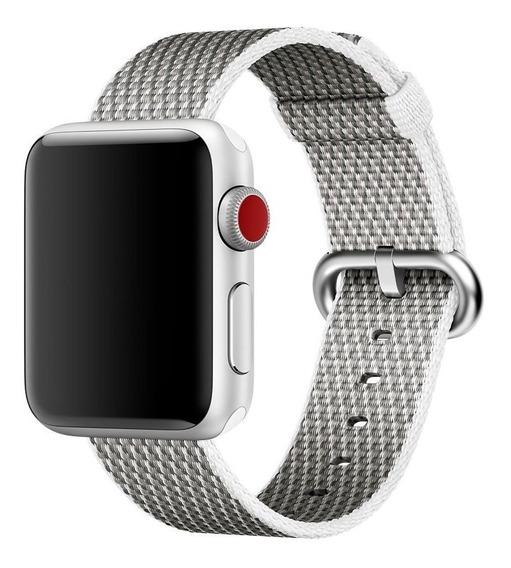 Nova Pulseira De Nylon P Apple Watch 42mm Serie 1/2/3 Branca