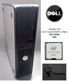 Dell Optiplex 755 Quad Core 4gb Ssd 120gb