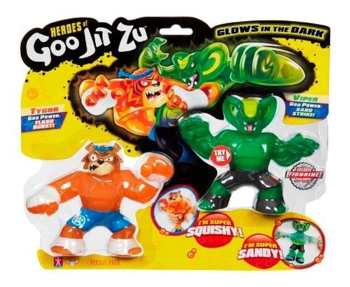 Goo Jit Zu 11cm Jlt 41014 Figura Super Flexible X2