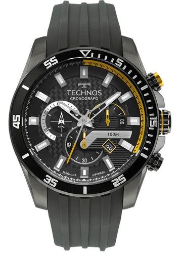 Relógio Technos Masculino Carbon Cronografo Grafite Cinza