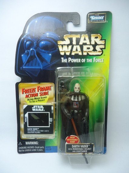 Star Wars Boneco Darth Vader Helmet Power Of Force Potf 1/18