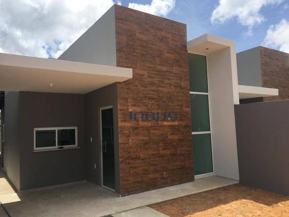 Casa Com 3 Dormitórios À Venda, 90 M² Por R$ 230.000,00 - Coité - Eusébio/ce - Ca0721