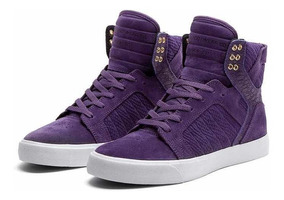 Supra Tenis Skytop Purple Leather Original S18216 Violeta