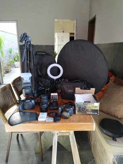 Câmera Fotográfica Cânon T5i, 2 Lentes E Acessórios