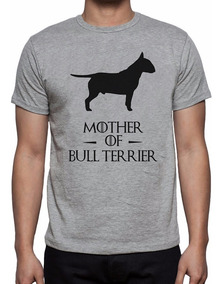 Camiseta Cinza Mescla Mother Of Bull Terrier Game Thrones