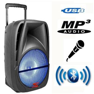 Parlante Portátil Autónomo Usb Mp3 Micrófono Bt