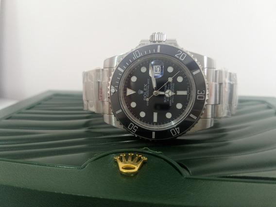 Relógio Eta - Mod. Submariner Preto Noob V9 Sa3135 Aço 904l