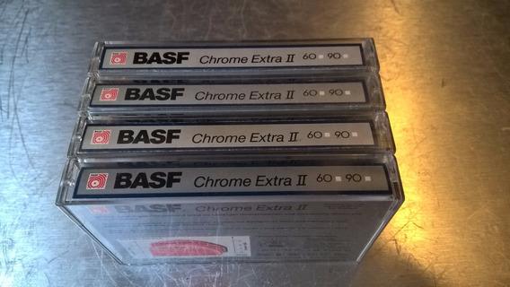 Quatro Fitas Cassete Basf Cromo Extra De Diferentes Modelos!
