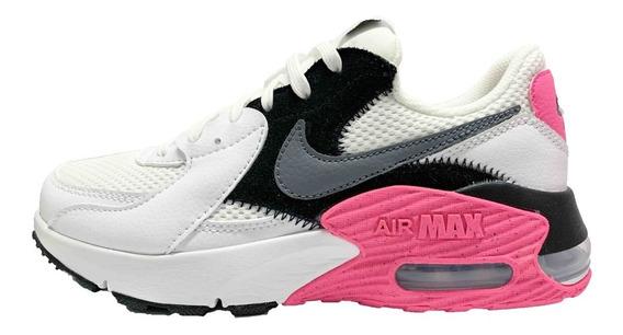 Tenis Nike Air Max Excee Para Dama Blanco/gris/rosa Cd5432