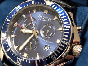 Relógio Alemão Boscé Chronograph Alarm Zerado Pulseira Extra