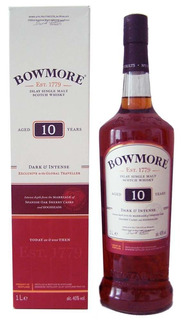 Whisky Bowmore 10 Años Dark Intense Islay Origen Escocia.
